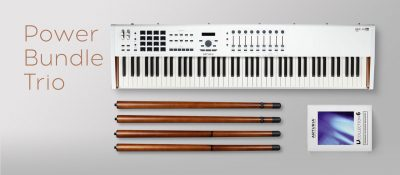 Arturia Power Trio Bundle KeyLab 88 MkII V Collection 6 Wooden Legs midiware strumenti musicali