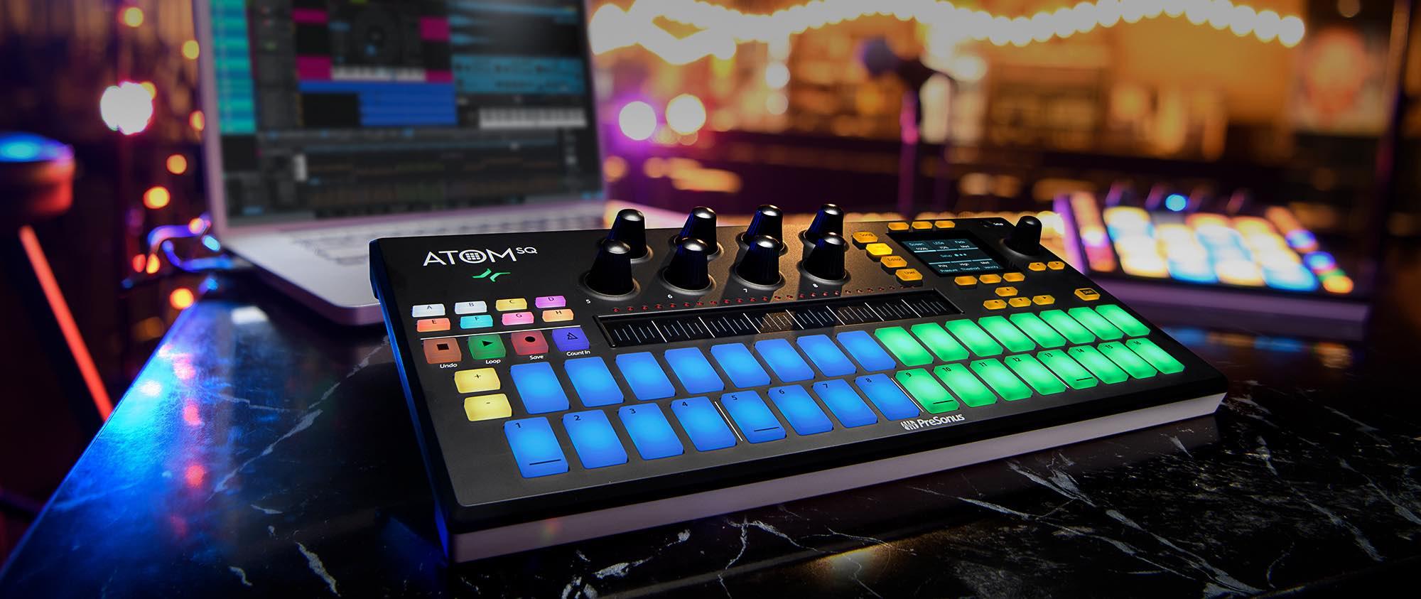 PreSonus Atom SQ controller hardware midi producer midi music performance performer live dj ableton studio one strumenti musicali