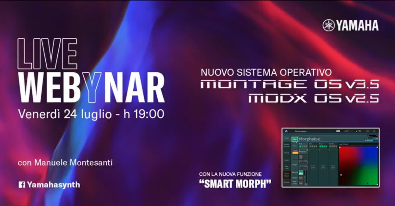 yamaha live webinar Manuele Montesanti montage smart morph audiofader