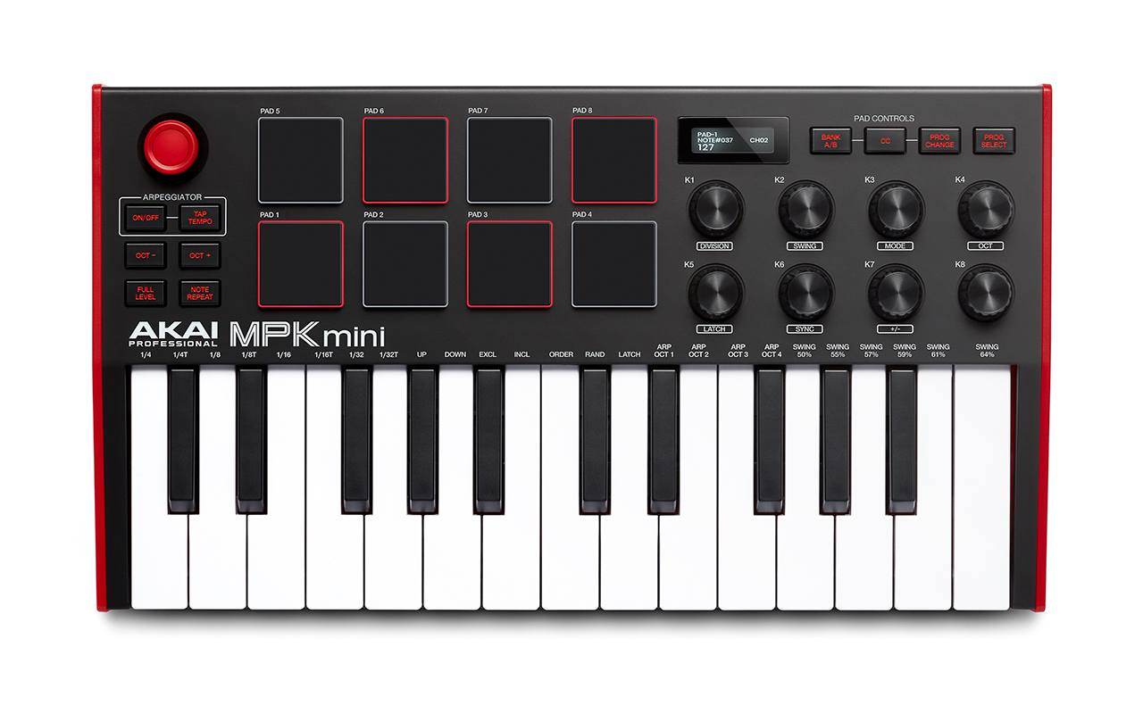 AKAI MPK Mini mkIII controller keyboard tastiera midi producer music algam eko strumenti musicali software tutorial prezzo price