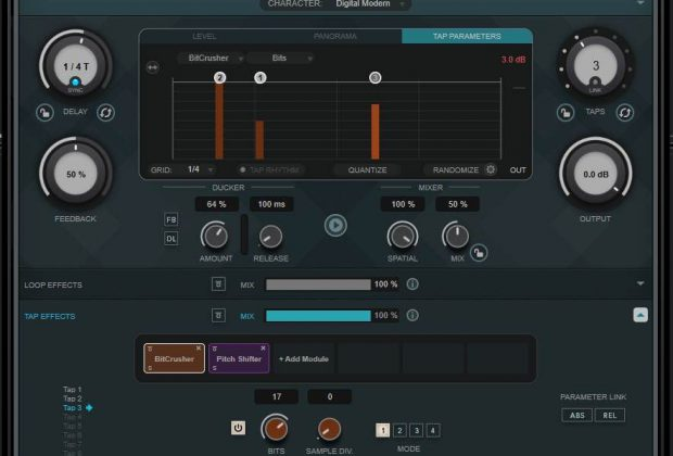Steinberg MultiTap Delay cubase 10.5 fx virtual novità aggiornamento software daw production music strumenti musicali