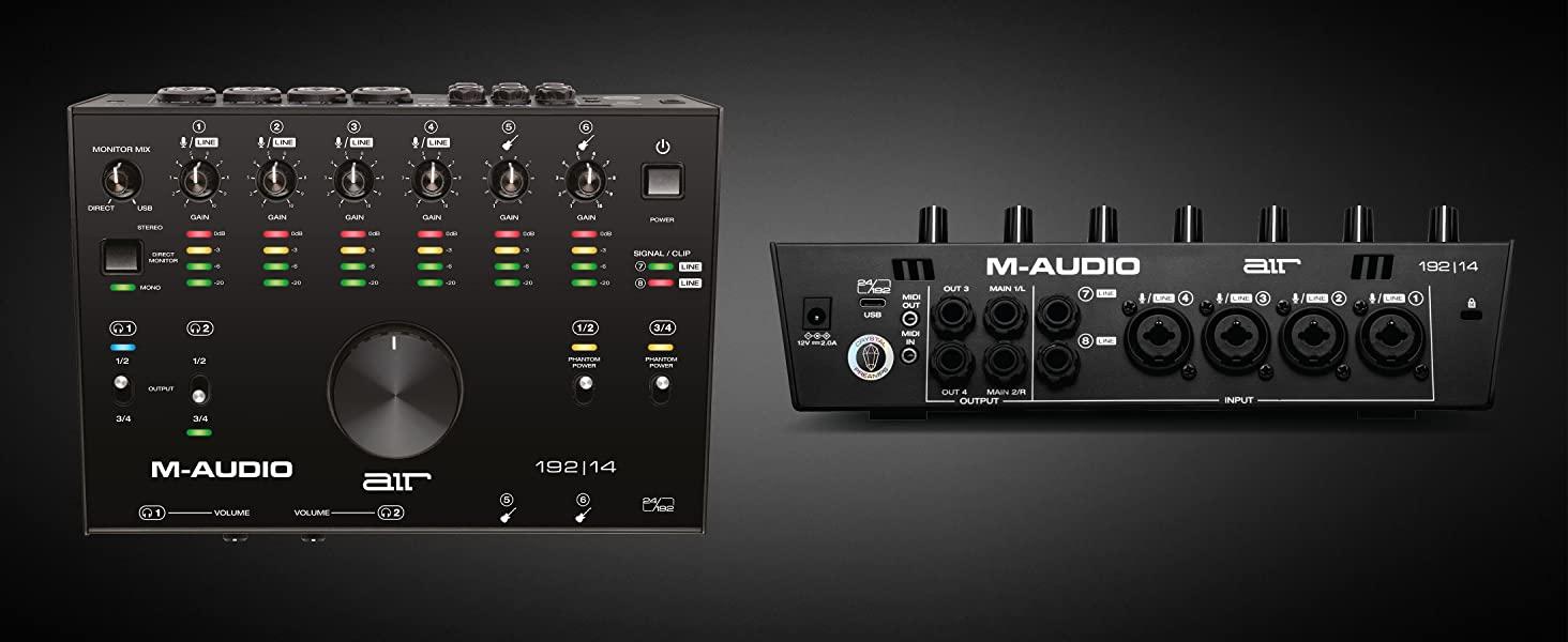 m-audio air 192 14 interfacce strumenti musicali