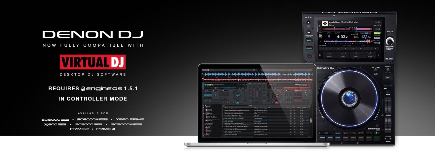 Denon DJ virtual software hardware player performance live strumenti musicali