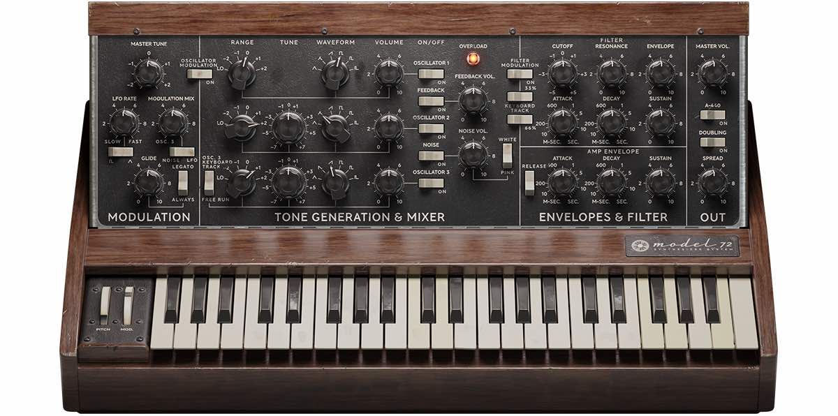 Softube Model 72 Synthesizer System synth sintetizzatore virtuale soft software music poducer midiware minimoog moog strumenti musicali