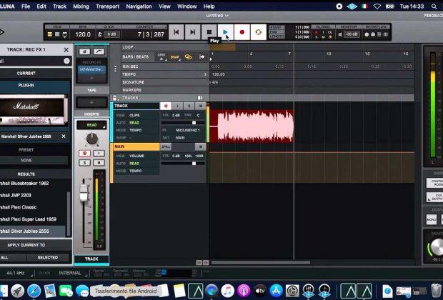 universal audio luna record fx tutorial video youtube strumenti musicali midiware andrea scansani