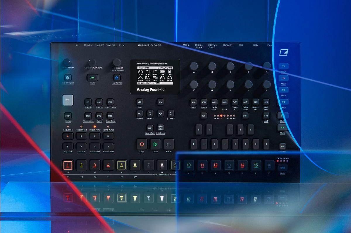 elektron Analog Four MKII soundwave music producer drum machine synth hardware digital strumenti musicali