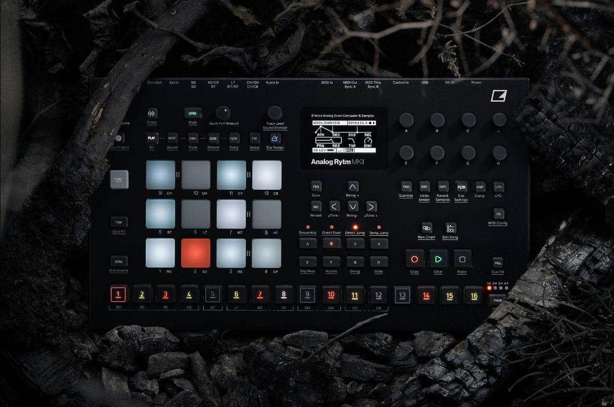 elektron Analog Rytm MKII soundwave music producer drum machine synth hardware digital strumenti musicali