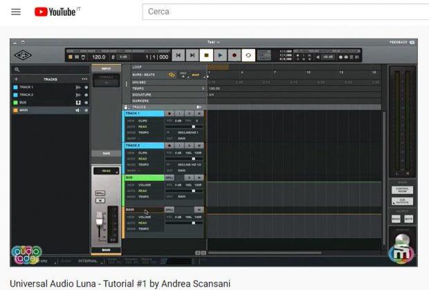 universal audio Tutorial luna recording system daw midiware andrea scansani youtube software strumenti musicali