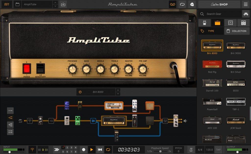 Ik Multimedia AmpliTube 5 software rig chitarra guitar software daw strumenti musicali