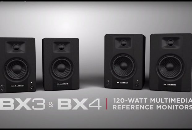 M-Audio BX3 BX4 home studio monitor audio project soundwave strumenti musicali recording mix
