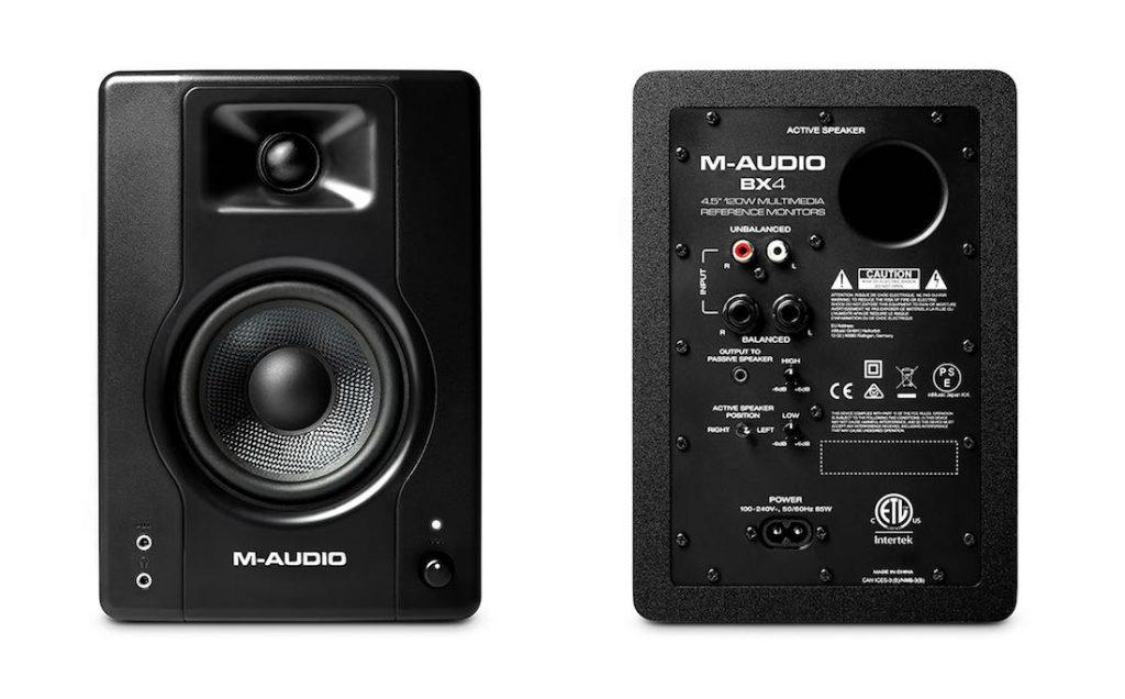 M-Audio BX3 home studio monitor audio project soundwave strumenti musicali recording mix