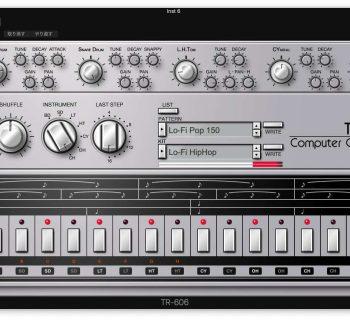 RolandCloud TR-606 virtual instrument drum machine synth plug-in audio daw software roland strumenti musicali