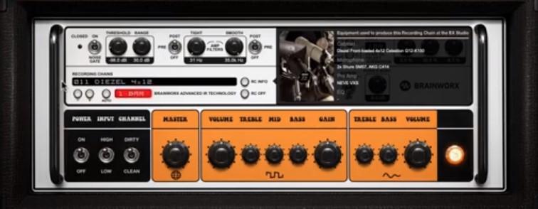 rockergain 100 sezione IR strumenti musicali