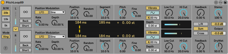 Ableton Live 11 review recensione sm strumenti musicali PitchLoop89 plug-in