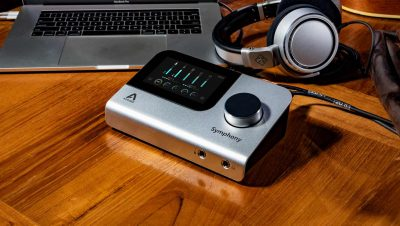 Apogee Symphony Desktop hardware interfaccia audio pro studio home project soundwave strumenti musicali