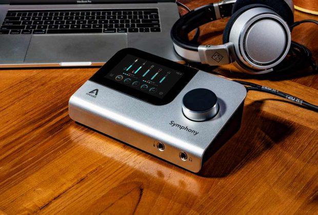 Apogee Symphony Desktop hardware interfaccia audio pro studio home project soundwave strumenti musicali