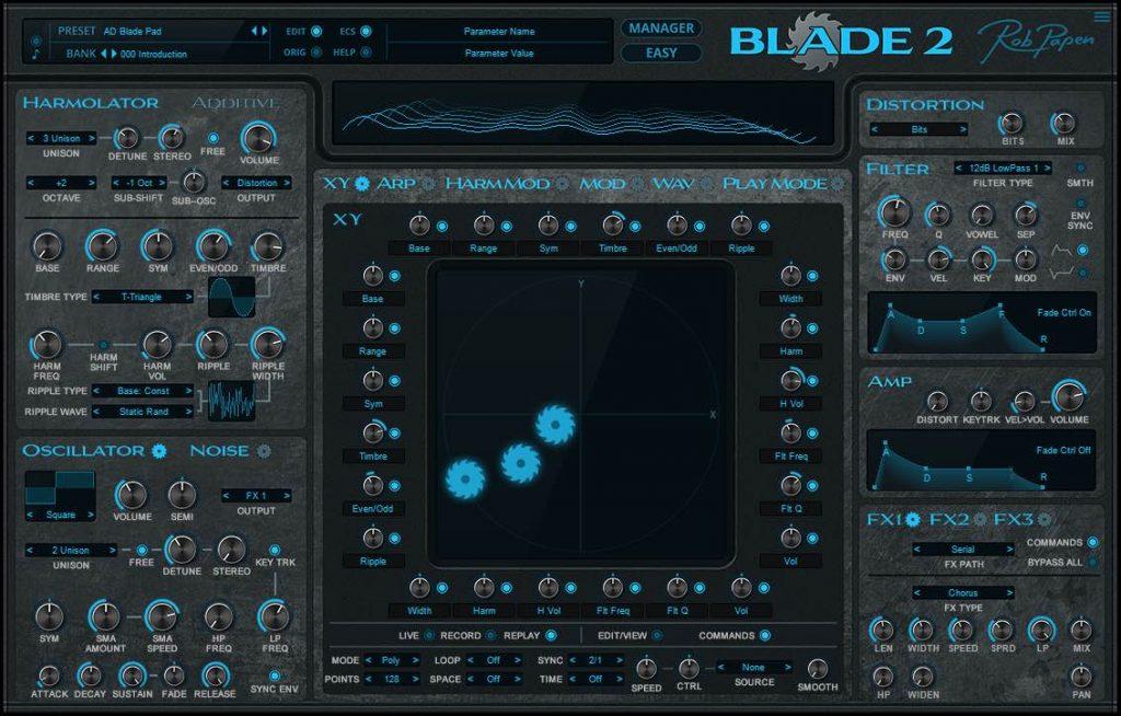 RobPapen Blade 2 virtual instrument soft synth sintetizzatore music producer daw strumenti musicali