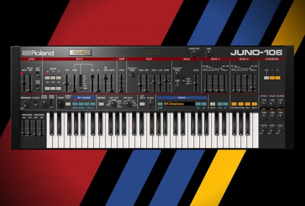 RolandCloud Juno-106 synth soft sintetizzatore vintage producer daw strumenti musicali roland