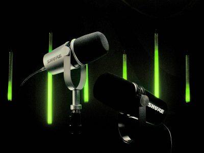 Shure M7V mic hardware ibrido USB microfono studio podcast rec broadcast video prase strumenti musicali