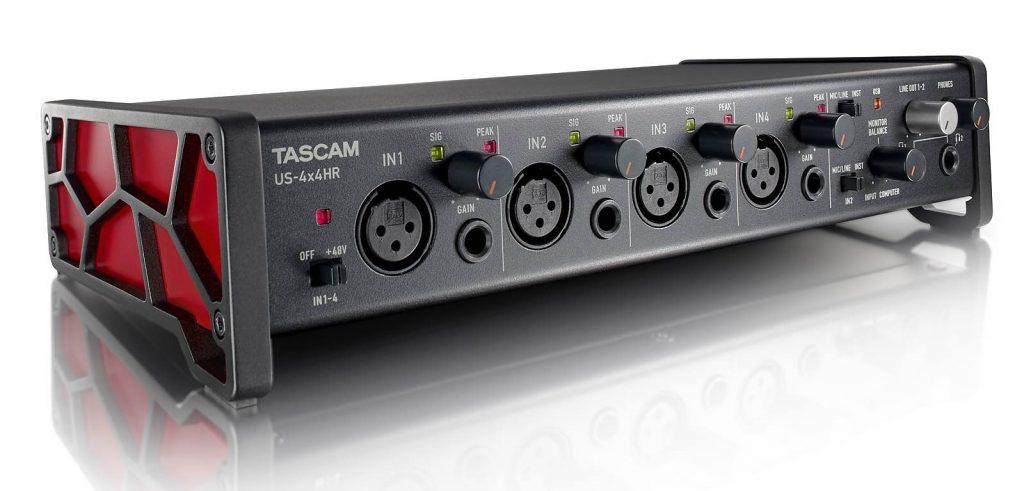 Tascam US serie US-4x4HR interfaccia audio rec aeb home studio strumenti musicali