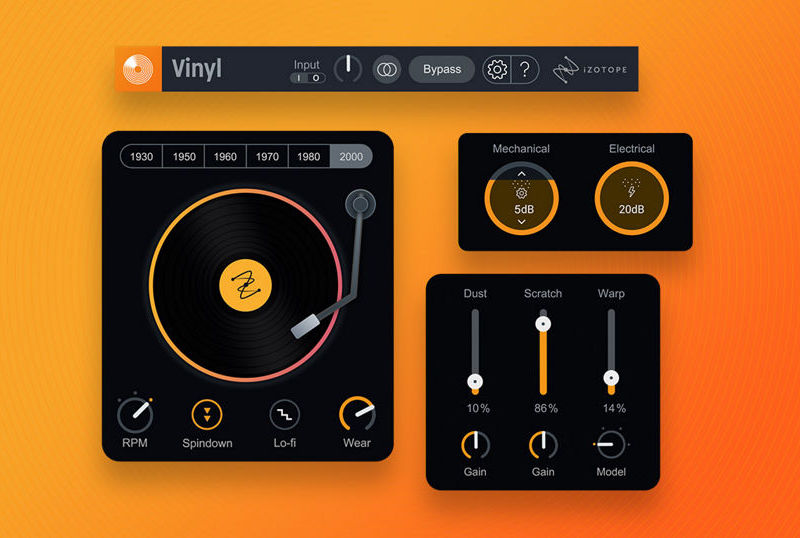 iZotope Vinyl freeware free gratis software daw mix mixing lofi vinile midiware strumenti musicali