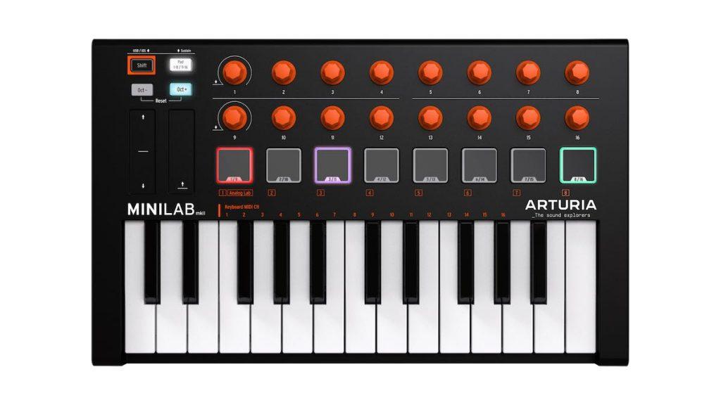 Arturia MiniLab mkII orange hardware controller midi orange special edition midiware strumenti musicali