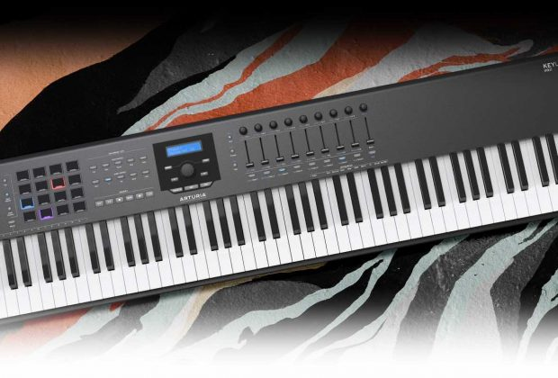 Arturia KeyLab 88 mkii hardware controller midi orange special edition midiware strumenti musicali