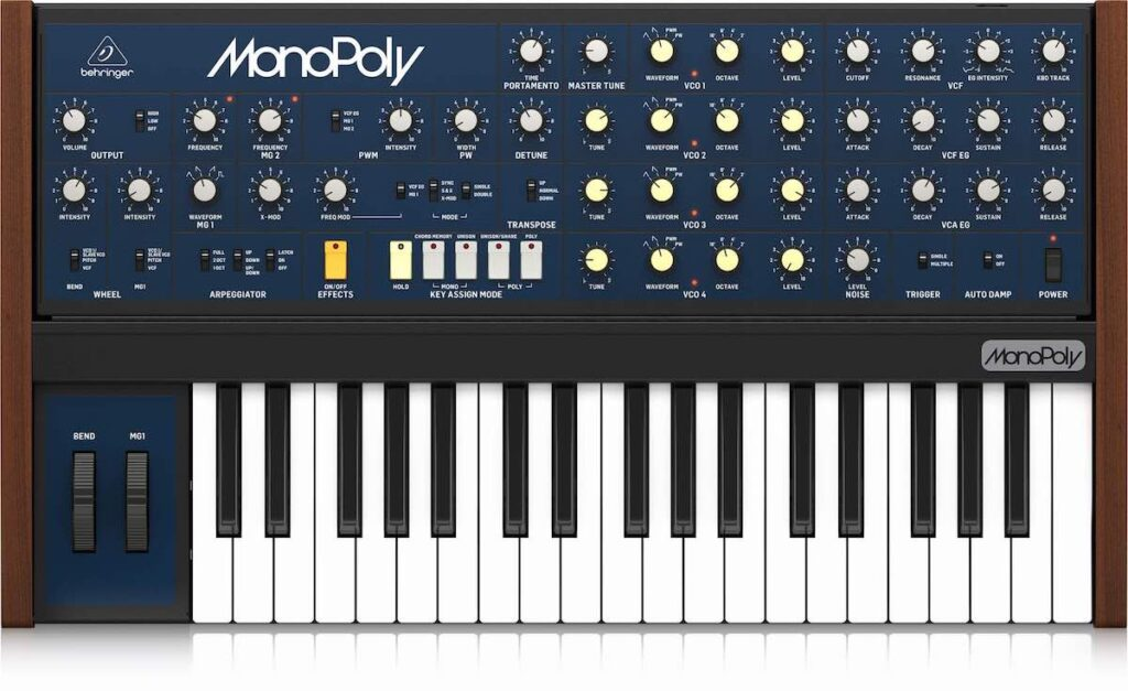 Behringer MonoPoly synth hardware musc producer tastiera keyboard vintage strumenti musicali