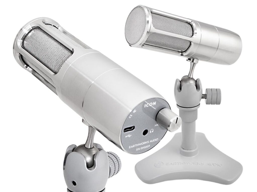 Earthworks Audio Icon mic microfono USB recording rec studio podcast broadcast home midiware strumenti musicali