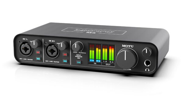 Motu M4 interfaccia audio home project rec mix backline test strumenti musicali