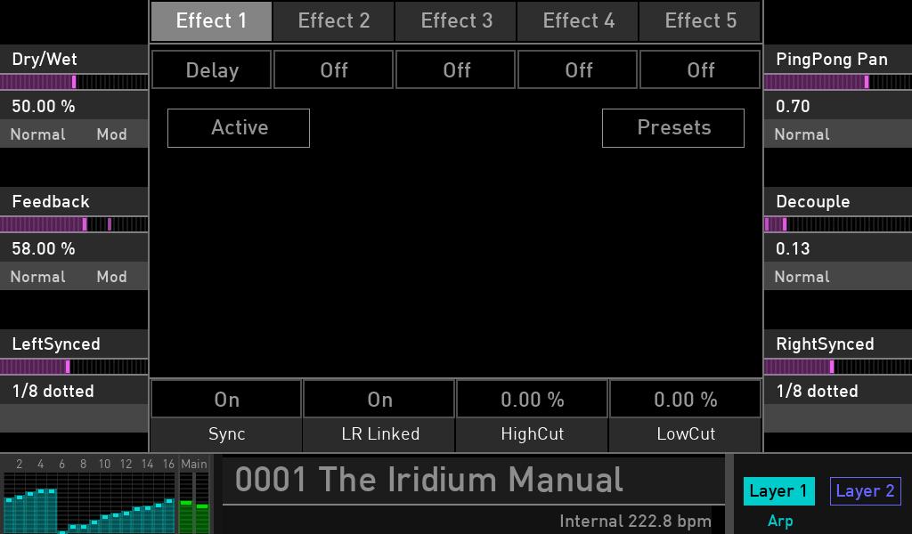 Waldorf Iridium synth test luca pilla sintetizzatore hardware digital soundwave delay