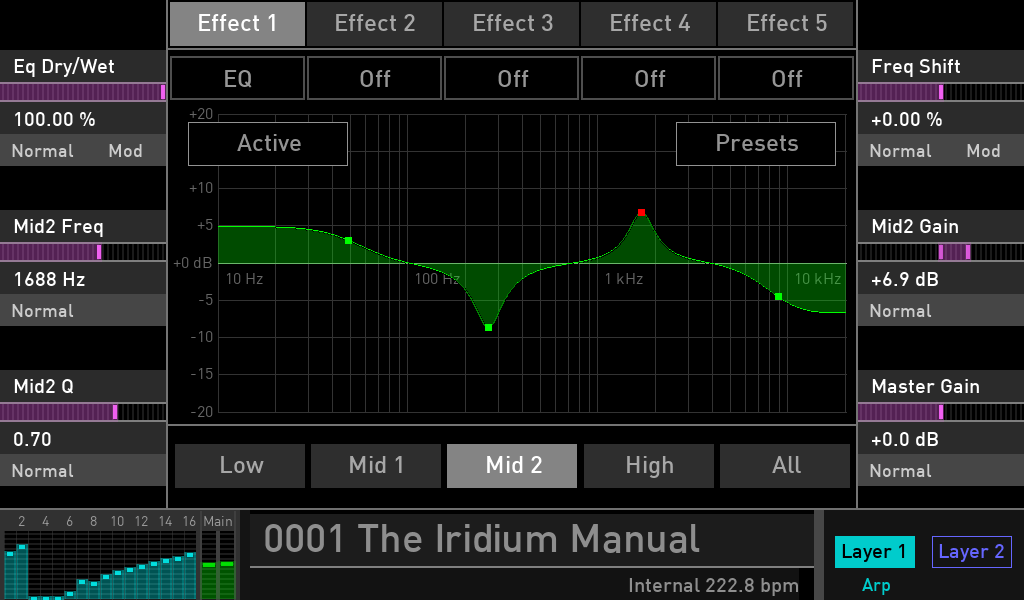 Waldorf Iridium synth test luca pilla sintetizzatore hardware digital soundwave eq