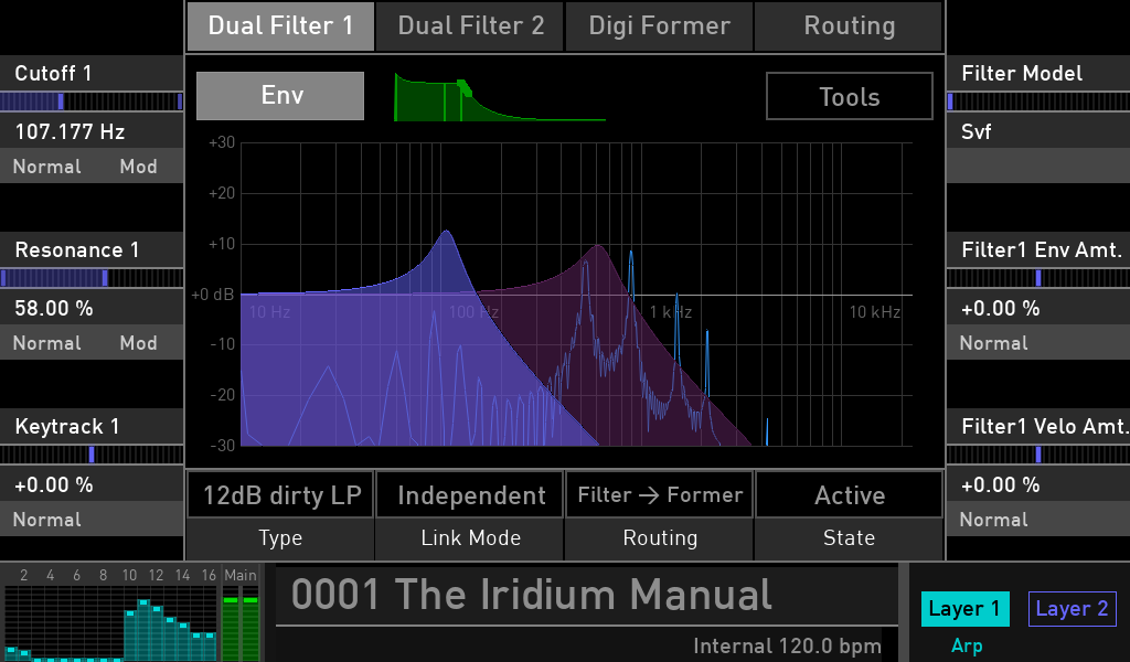 Waldorf Iridium synth test luca pilla sintetizzatore hardware digital soundwave filter