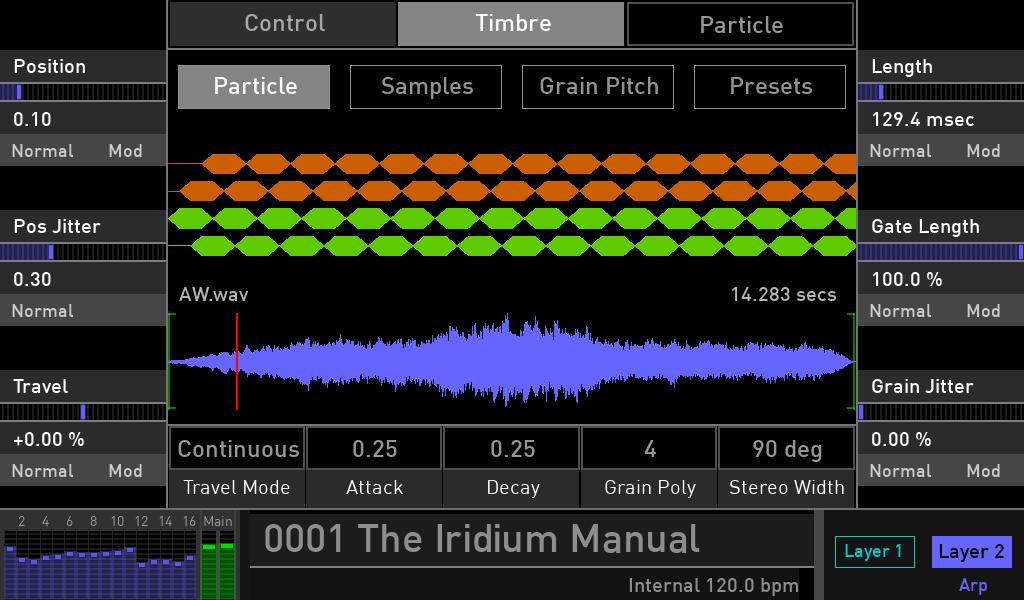Waldorf Iridium synth test luca pilla sintetizzatore hardware digital soundwave particle