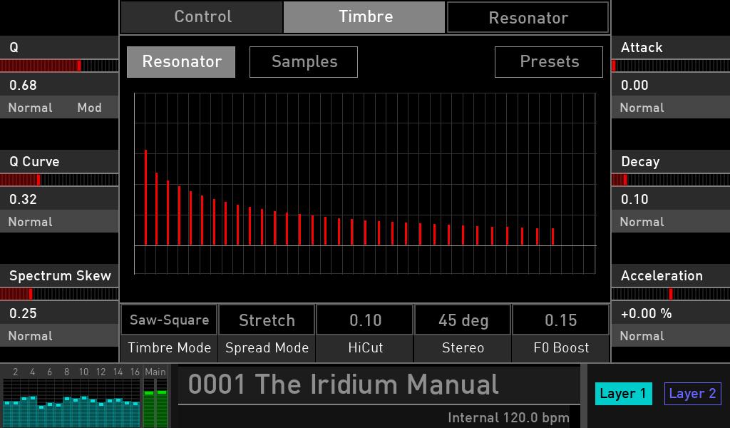 Waldorf Iridium synth test luca pilla sintetizzatore hardware digital soundwave resonator