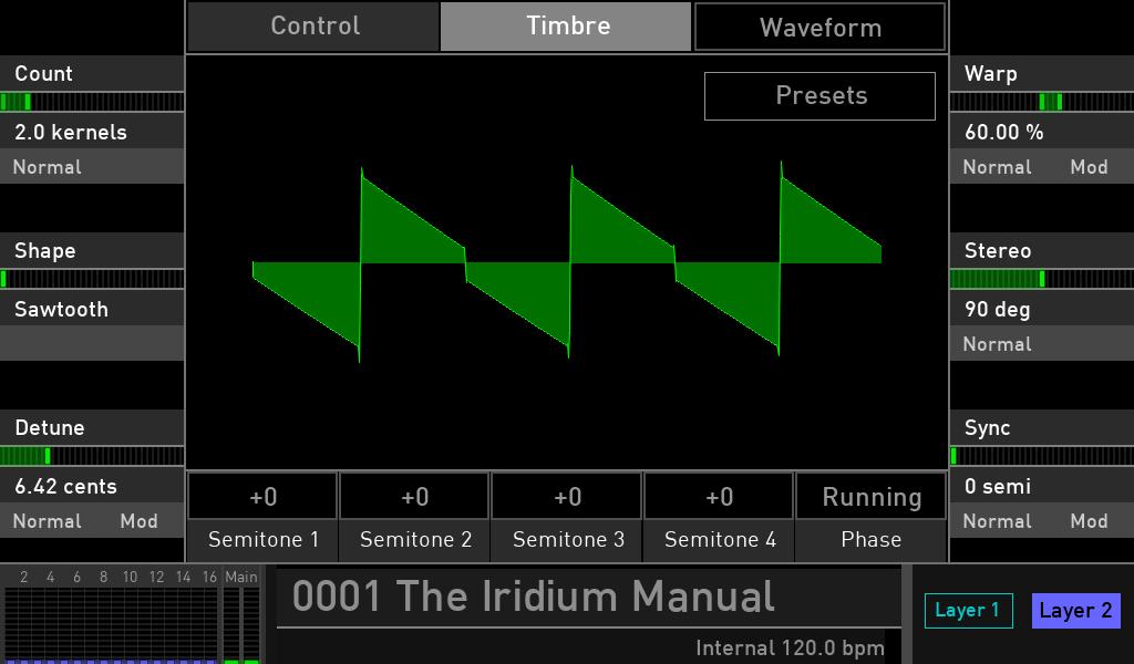 Waldorf Iridium synth test luca pilla sintetizzatore hardware digital soundwave waveform