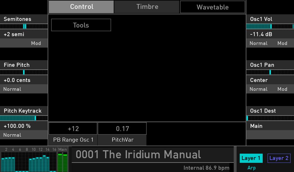 Waldorf Iridium synth test luca pilla sintetizzatore hardware digital soundwave control