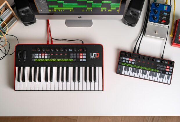 Ik Multimedia UNO Synth Pro Desktop sintetizzatore hardware digital strumenti musicali mogar
