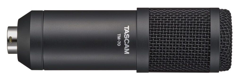 Tascam TM-70 voice over microfono dinamico broadcast podcast recording studio hardware aeb distribuzioni strumenti musicali