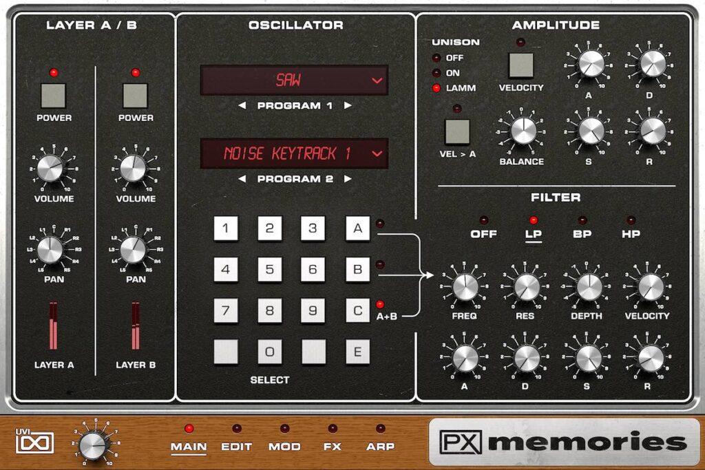 UVI PX Memories virtual instruments synth novità news daw strumenti musicali