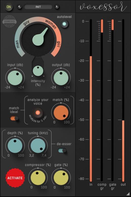 United Plugins Soundevice digital Voxessor voice voce channel strip pitch correction strumenti musicali