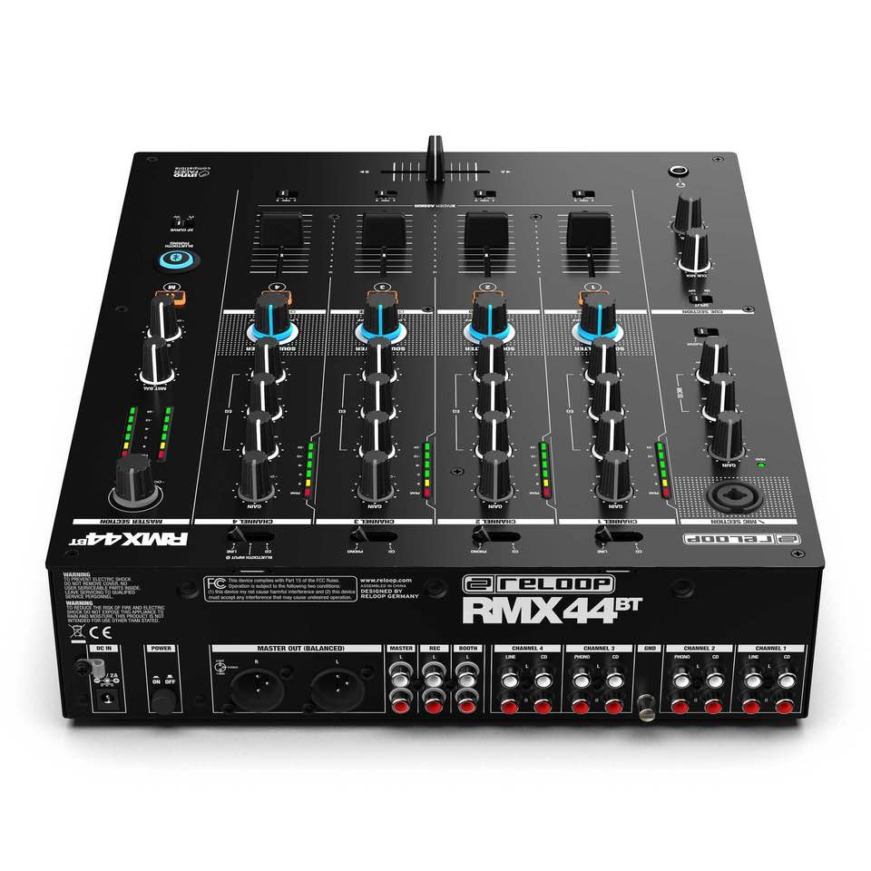 Reloop RMX-44 BT hardware mixer bluetooth dj live studio performance soundwave strumenti musicali prezzo