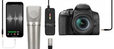 Ik Multimedia iRig Pre 2 interfaccia audio mobile hardware recording mogar sturmenti musicali dslr