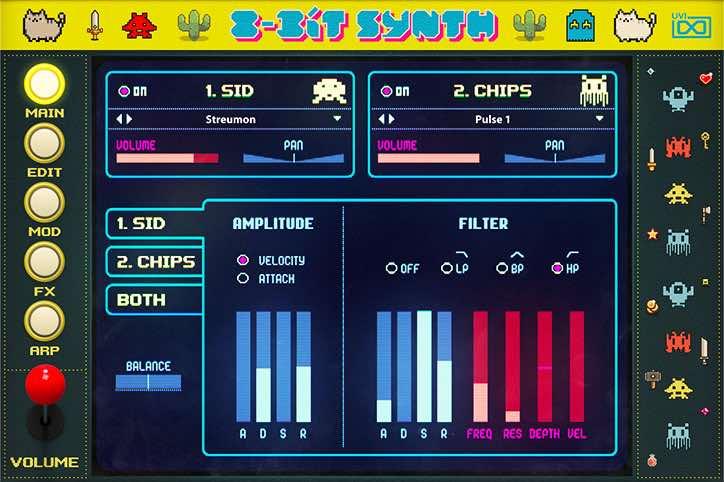 UVI 8-bit Synth game gaming virtual instrument music producer strumenti musicali