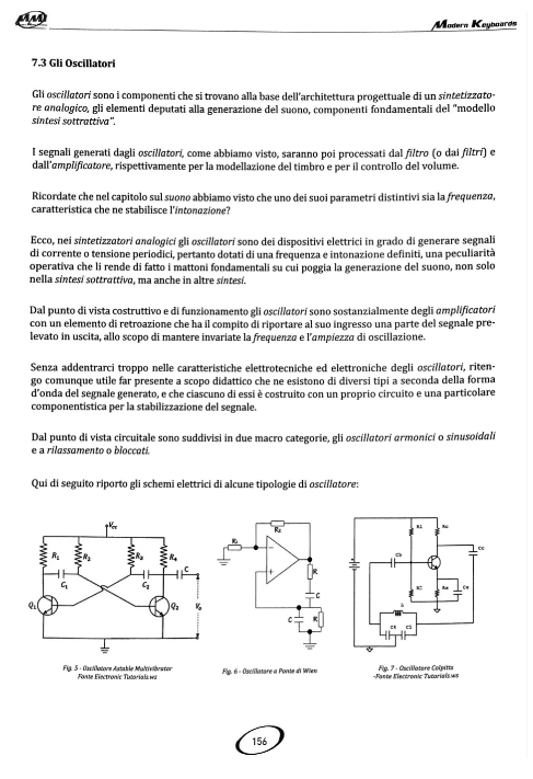 Modern Keybords Andrea De Paoli corso di sintesi sonora libro sintetizzatori smstrumentimusicali