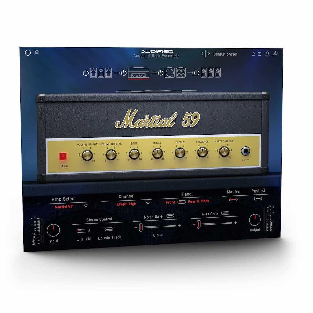 Audified AmpLion 2 Rock Essentials software guitar chitarra strumenti musicali