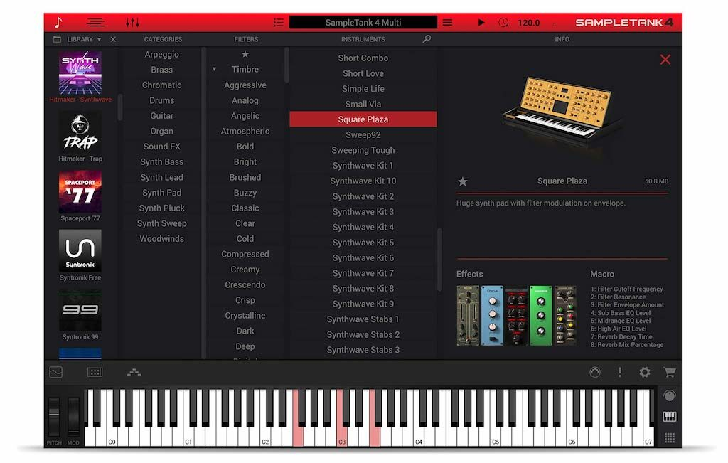 Ik Multimedia Synth Wave sample library virtual instrument plug-in strumenti musicali SampleTank