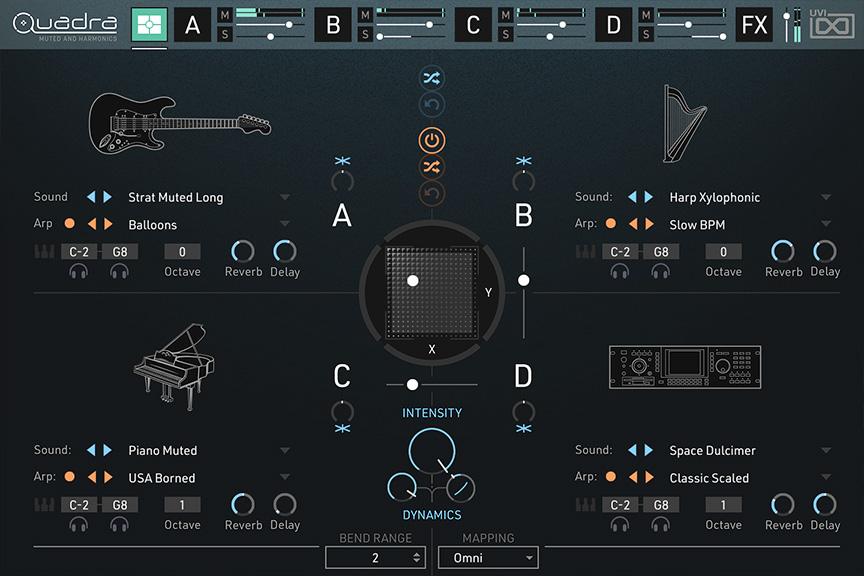 UVI Quadra virtual instrument music producer strumenti musicali