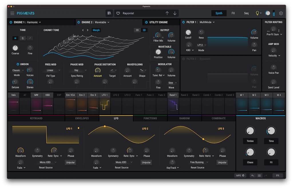 Arturia Pigments 3 soft synth virtual instrument producer midiware strumentimusicali prezzo