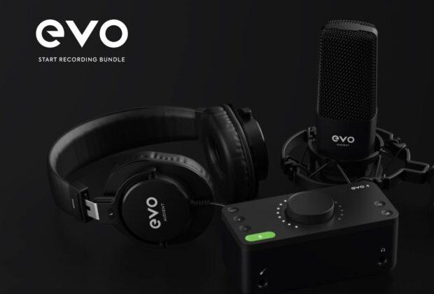 EVO Start Recording Bundle home studio recording audient leading tech
